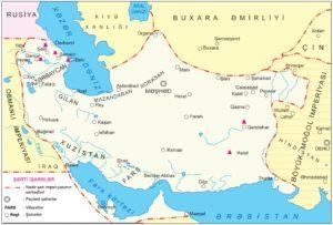Nadir şah imperiyasının xəritəsi